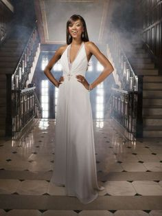 Chiffon Plunging Deep V-Neckline Directionally Pleated Bodice A-line Wedding Dress