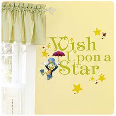 Pinocchio Jiminy Cricket Wish Upon a Star Wall Decal - RoomMates - Disney - Wall Murals at Entertainment Earth
