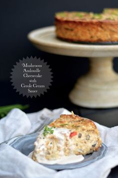 This savory Mushroom Andouille Cheesecake with Creole Cream Sauce from My Invisible Crown looks and sounds divine!