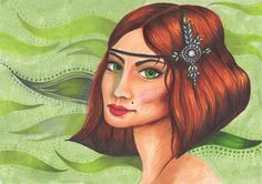 Green-eyed Gatsby Girl - Getting back into illustration