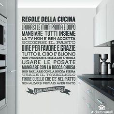 Adesivi Murali: Regole de la Cucina 1