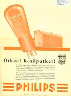 Vanhat radiomainokset 1920 - 1949