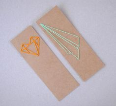 DIY Lace Card Book Marks for kids. Draw your own patterns. Make this a geometry learning project in the classroom.