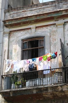 Laundry balcony.