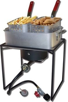 Propane Deep Fryer Basket Cooker Commercial Gas Outdoor Camp Fish Fries Party
