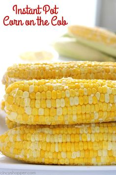 Instant Pot Corn on the Cob. Instant Pot Corn on the Cob Recipes If you are looking for the best Instant Pot Corn on the Cob, this one is it. It's creamy, sweet, and delicious. You will find it supe. Instant Pot Pressure Cooker, Pressure Cooker Recipes, Pressure Cooking, Slow Cooker, Instant Cooker, Instant Pot Veggies, Instant Pot Dinner Recipes, Instant Recipes, Recipe Creator