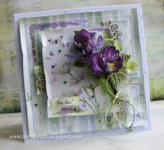 Śliczna lawendowa kolekcja  Lavender    to papiery rosyjskiej produkcji.   Zgodziłam się zostać gościnną projektantką,   bo papiery są...