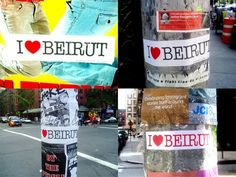 I <3 Beirut stickers in New York