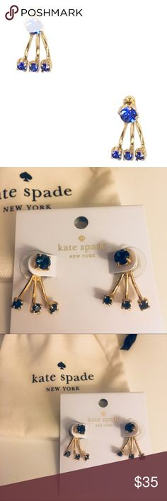 Kate Spade - NWT Blue Dainty Sparklers Ear Jackets Kate Spade - NWT Blue Dainty Sparklers Ear Jackets. Comes with dust bag. Be sure to check out my closet for more Kate Spade items to bundle and save!! kate spade Jewelry Earrings