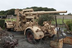 One of the most feared guns of WWII: the German Flack 88.