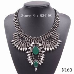 Minimum Order $10 fashion 2014 new crystal statement chunky necklace fashion jewelry for women free shipping US $14.06