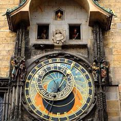 Lets travel and while we journey to Europe why not stop and take in this unique sight? The Prague Astronomical Clock! Built in 1410, the apparatus is the world's oldest functioning astronomical clock. It adorns the facade of the Old Town Hall of Prague's Old Town Square. The clock's astronomical dial tracks the motion of the sun, moon and stars. Above the dial, statues of the 12 apostles appear at the hour every hour from 9 a.m. to 9 p.m. This would be a cool sight to see while adoring all th...