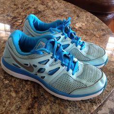 Nike cute shoes Nike Dual Fusion Nice blue athletic shoes Nike Shoes Athletic Shoes