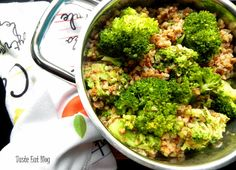 Taste Eat: Kasza gryczana z brokułem i mleczkiem kokosowym i ... Broccoli, Vegetables, Eat, Blog, Vegetable Recipes, Veggie Food, Veggies