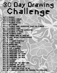 30 day drawing challenge. accepted!