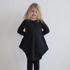 Lasten pitkäh. Kanto-mekko, musta | Weecos
