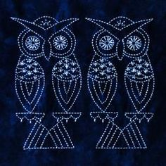 Two Owls Sashiko Kit