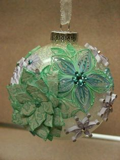 ** Quilled Green Christmas Ornament @newyearparty