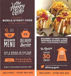 Typography and type design. World Street Food, Restaurant Promotions, Promo Flyer, Restaurant Advertising, Banner Design Inspiration, Menu Design, Print Design, Graphic Design, Good Ol