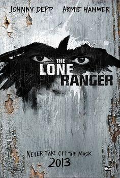 Walt Disney Studios 2013 Movie Lineup - The Long Ranger Movie Poster , Johnny Depp