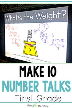 These first grade number talks really do work! They help reinforce the math strategy of making a ten to add numbers within You will LOVE the variety to keep your students engaged. Don't miss out ~ Buy now! First Grade Lessons, First Grade Activities, Teaching First Grade, Second Grade Math, Math Lessons, Teaching Math, Math Fact Practice, Math Fact Fluency, Number Talks