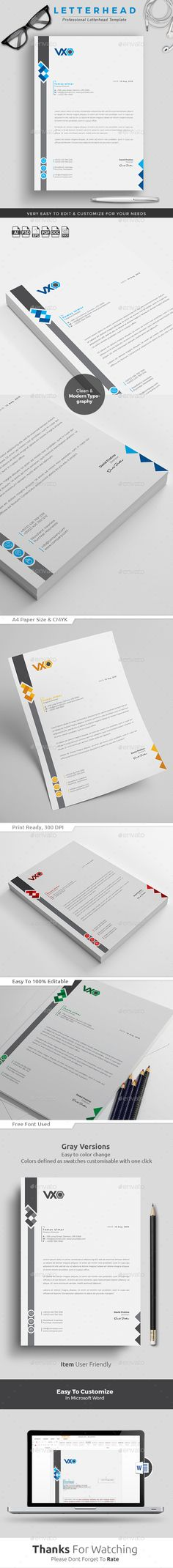 Letterhead Adobe photoshop, Popular and Stationery - free business letterhead templates download