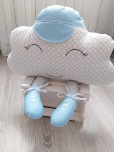 Ready to ship, Cloud Pillow, Cloud cushion, Pillow Cloud, Nursery Decor, Baby shower boy gift