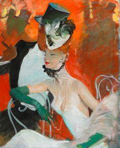Jean-Gabriel Domergue (1889-1962) - Betty et son danseur