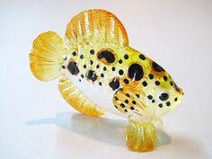 Aquarium handicraft MINIATURE HAND BLOWN GLASS Fish FIGURINE # 62 - Fish