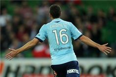 Chianese begins the celebrations after his goal extends Sydney FC's lead over Melbourne Heart.