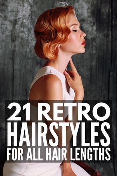 Whether you need a gorgeous retro glam wave for an event or want to rock vintage-inspired hairstyles on the dailry, these retro hairstyles will inspire you! Hollywood Glam Hair, Old Hollywood Waves, Easy Vintage Hairstyles, 1950s Hairstyles, Girl Hairstyles, Hairdos, Medium Hair Styles, Short Hair Styles, Short Retro Hair