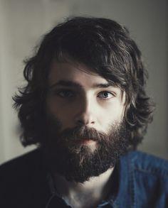 full thick dark beard and mustache with nice coloration beards bearded man men long hair beautiful eyes #beardsforever