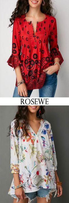 N Touch Women Plus 1x 2x 3x Calico Blue Asym Tunic Top Blouse Shirt Sweater
