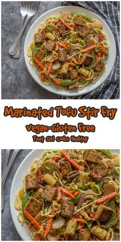 Learn how to make this delicious vegan, low carb, gluten free tofu recipe. Smoked tofu is marinated to yield more depth in flavour then pan fried and tossed with stir fried vegetables/zoodles. This is definitely a vegan dish that is filling, low carb and flavoursome. Tofu Recipes, Dairy Free Recipes, Gluten Free, Best Non Stick Pan, Tofu Stir Fry, Marinated Tofu, Marinade Sauce, Fried Vegetables, Vegetable Stir Fry