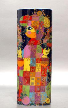 70er Rosenthal Vase Serie Alladyn Design Björn Wiinblad Nr. 2