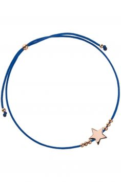 armband textil dunkelblau stern kuegelchen sterling silber rose vergoldet