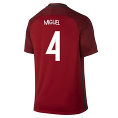 2016 Portugal National Team MIGUEL #4 Home Soccer Jersey