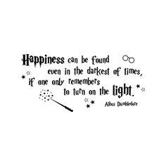 Glück finden Sie Harry Potter Wandtattoo Zitat Albus