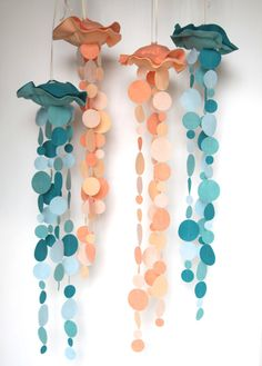 Jelly Fish Felt Mobile by benzie on Etsy