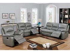 2 pc Bernice II grey genuine leather match sofa and love seat set with reclining ends. This set includes the sofa and Love seat with recliners on both ends. Sofa measures x x H. Love seat measures x x H. Optional single reclining c Furniture, Elegant Kitchen Design, Love Seat, Reclining Sofa, Leather Couch, Trendy Living Rooms, Leather Recliner, Reclining Sofa Living Room, Modern Leather Sofa