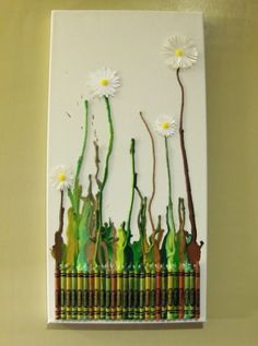 Melted Crayon Art Projects - Kids Kubby