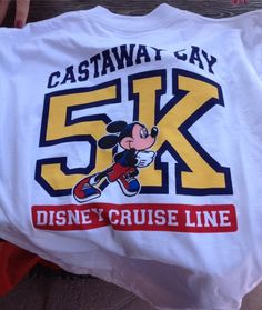 Disney Cruise Line's Castaway Cay 5K | The DIS Unplugged Disney Blog. Completed this run August 1, 2012. Extremely humid, but felt awesome when it was finished.