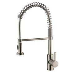 Yosemite Home Decor Brushed Nickel 1-Handle Pull-Out Kitchen Faucet Yp