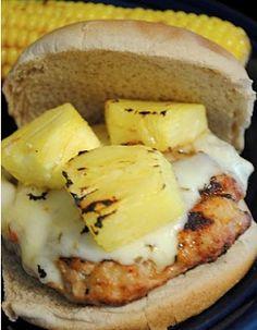 Spicy Hawaiian Burgers (ground chicken)