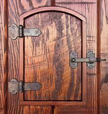 Wrought Iron Hardware Meval Old Wooden Doors Rustic Speakeasy Door