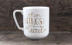 Christian Coffee Mug Then Sings My Soul by MorningSunshineShop