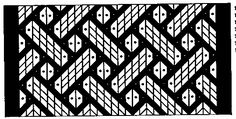 Viking-Style Tablet Weaving: Birka Strapwork Motif by Carolyn Priest-Dorman