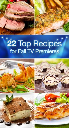 22 Top Recipes for Fall TV Premieres