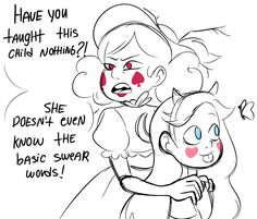 Headcanon that Eclipsa has a wide vocabulary of colorful swear words which are forbidden from use in Mewni.