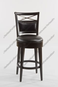 24 Inch Luxury Black Faux Leather Barstool Overstock Com